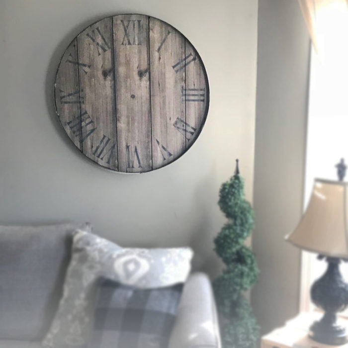 Rustic Wood - Hands of time memory clock
