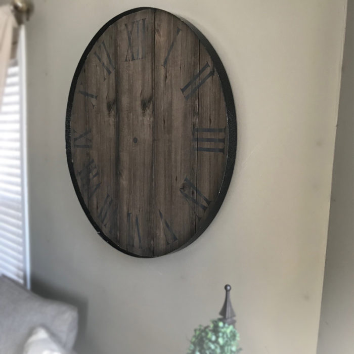 Rustic Wood Hands of Time Memory Clock