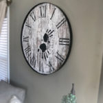 Distressed White Hand of Time Memory Clock
